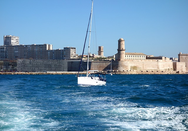 Marseille, France, Sailboat