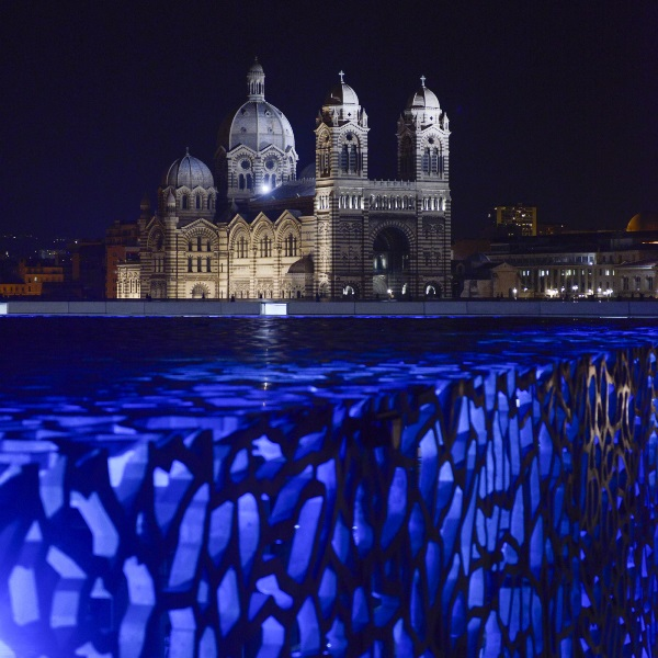 Marseille Mucem at Night