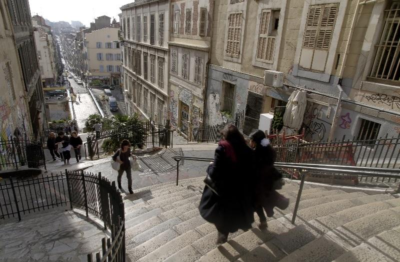 marseille cours julien steps, France
