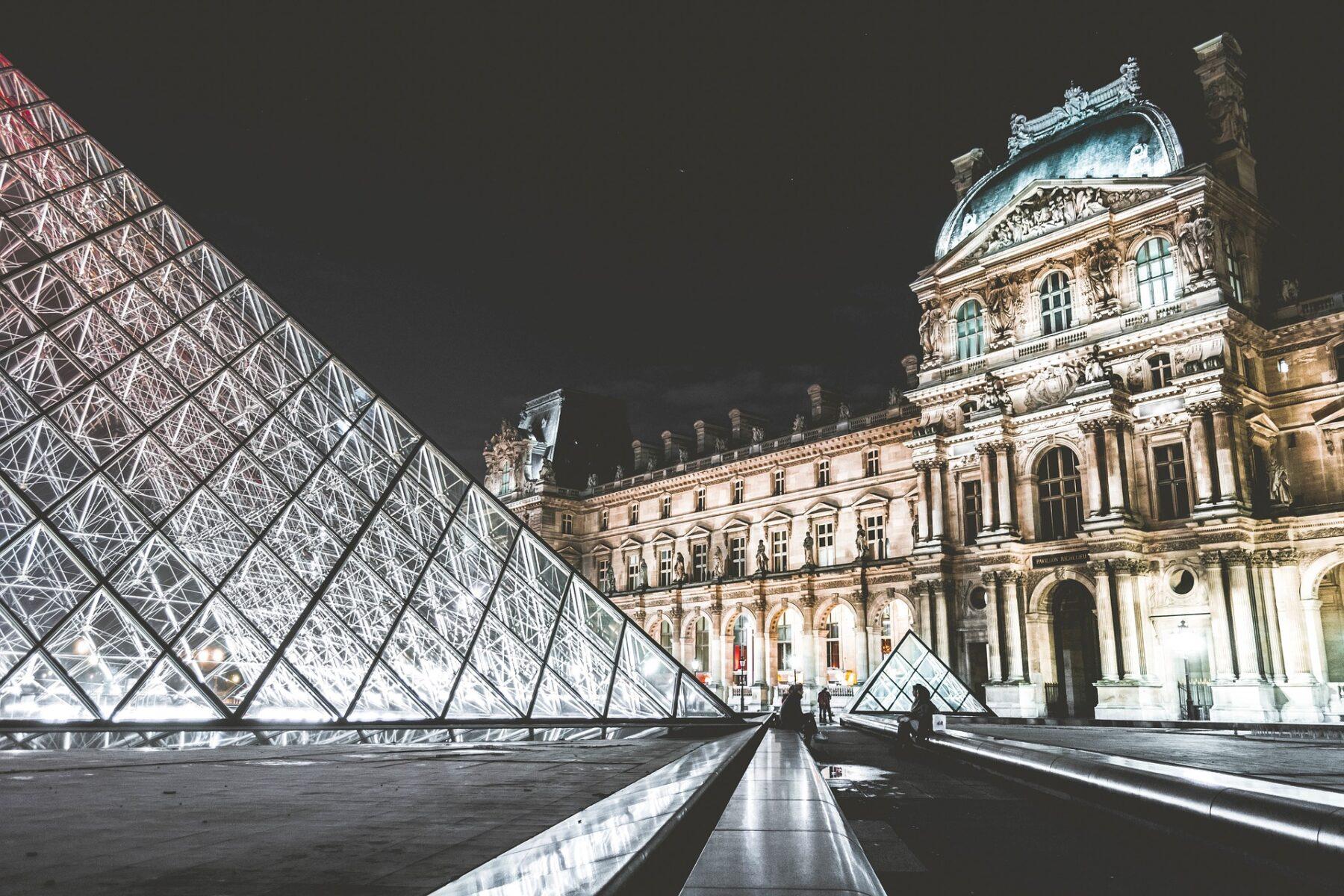 Louvre, Pyramid Entrance, Paris, France