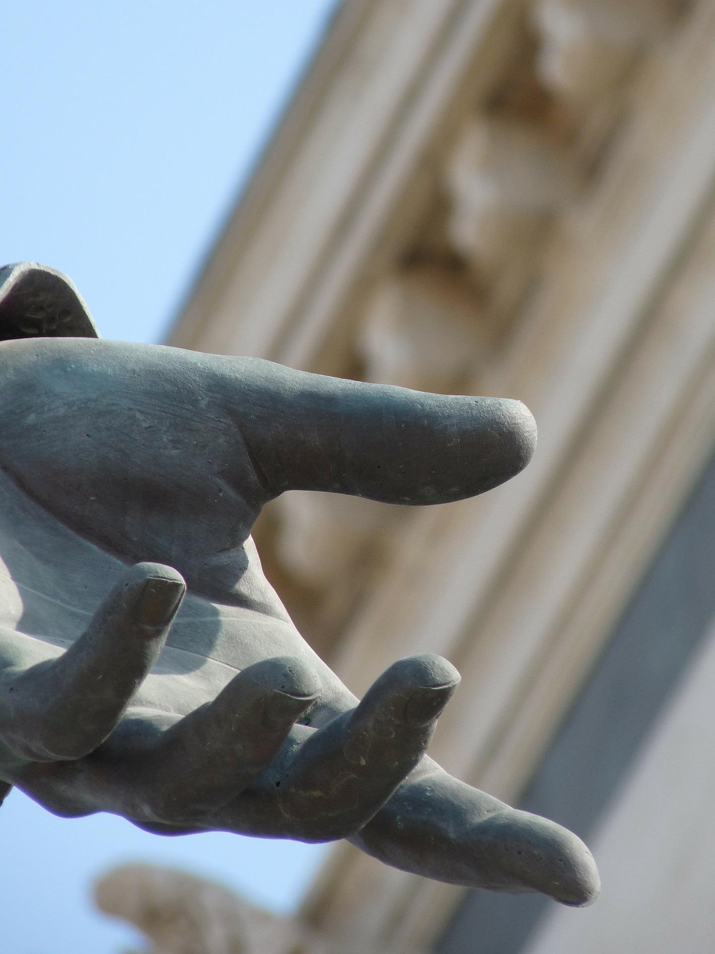 Marseille, France Statue Hand