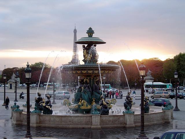 Paris France Fountain